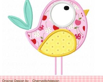 """Bird Machine Embroidery Applique Design 02 -4x4 5x5 6x6"""""""