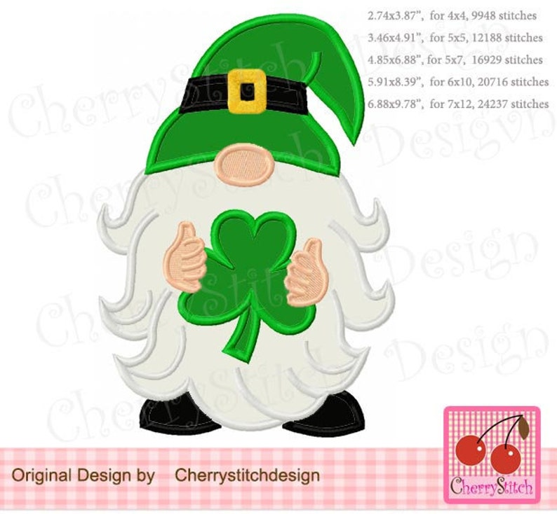 Download St. Patricks Day Gnome Gnome with shamrock Gnome Machine ...