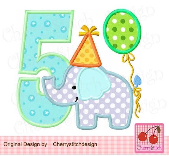 Verjaardag Olifant Nummer 5 Babyolifant Met Nummer 5 Etsy