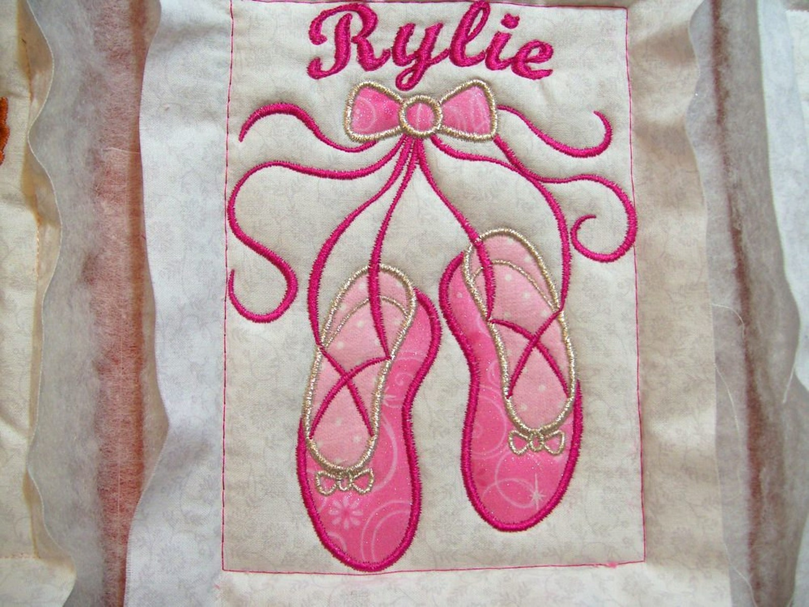 ballet shoes machine embroidery applique design - for 4x4,5x7, 6x10 hoop