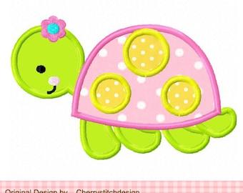 "Turtle Sea Animal Machine Embroidery Applique Design for girls -4x4 5x5 6x6"""