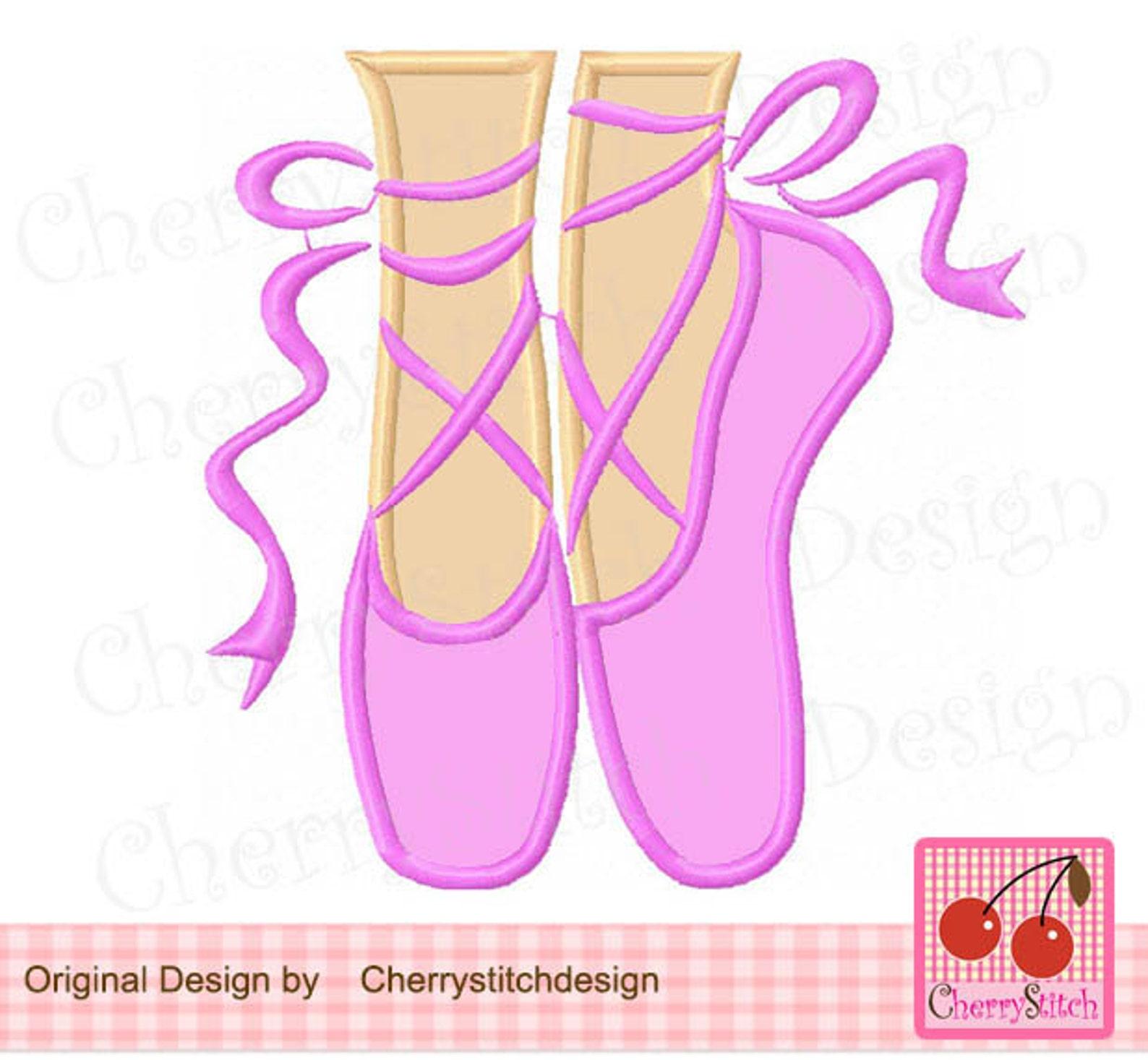 ballet shoes ballerina machine embroidery design bg0019 -4x4,5x5,6x6 inch