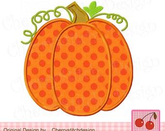 """Happy Fall Pumpkin Thanksgiving Pumpkin Machine Embroidery Applique Design TH0019 -4x4 5x5 6x6"""""""