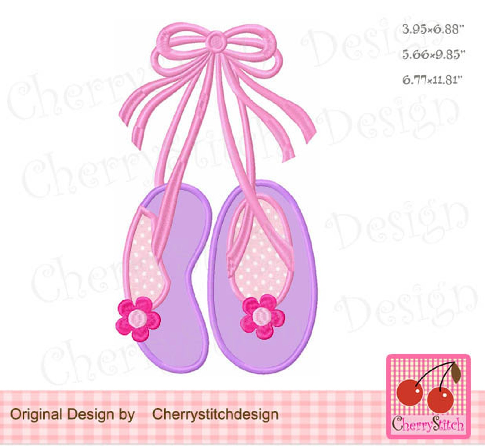 toe shoes ballet shoes machine embroidery applique design - for5x7, 6x10 and 7x12 hoop