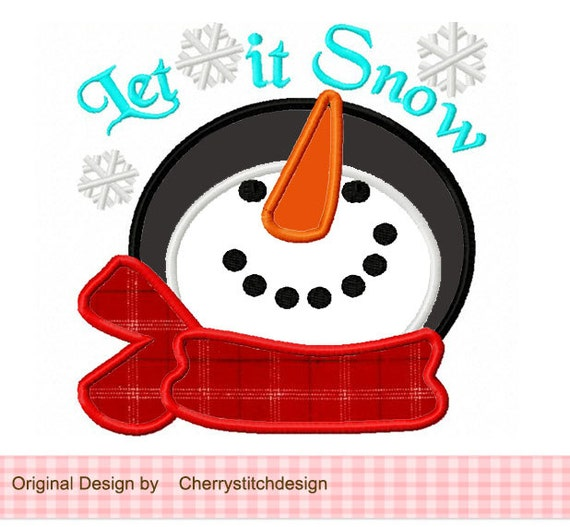 Download Santa Snowman Designs For Embroidery Machine Instant Download Commercial Use Digital File 4X4 5X7 Hoop Icon Symbol Sign Christmas Snow Winter Let It Snow Holiday 92B DXF
