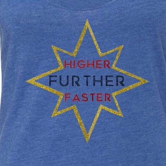 Further Long Sleeve workout shirt- Marvelous Captain Higher Faster