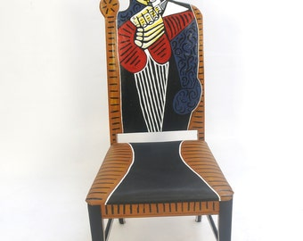 Picasso Tete D'une Femme Lisant upscaled chair painted by Artist Todd Fendos