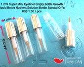 1.2ml Mini Eyeliner Empty Bottle Eyelash Growth Bottle Nutrient Solution Bottle False Eyelashes Glue Bottle Sample Empty Bottle Serum Tube