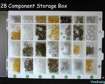 Big Plastic Storage Box Parts Case Plastic Box Accessory Box Plastic Container Big Storage Box Pills Storage Box Accessory Storage Slim Box