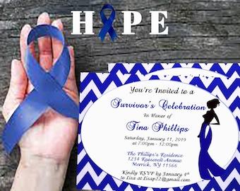 Colon Cancer Survivor Invitation - DIGITAL INVITE