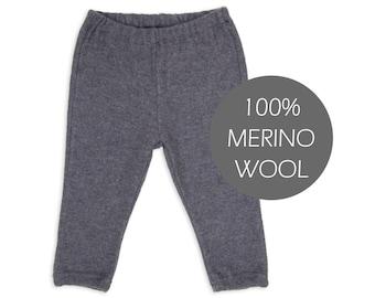 Merino wool baby pants - merino wool baby leggings - merino wool baby trousers