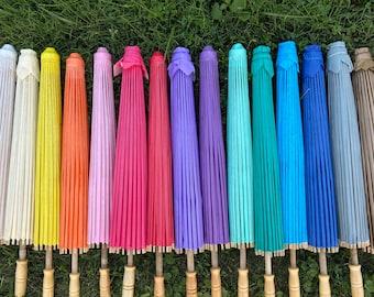 Paper Parasols for Wedding Pictures, Wedding Ceremony, Wedding Decor, Beach Wedding, Paper Umbrella, Flower Girl Parasol, Sun Umbrella
