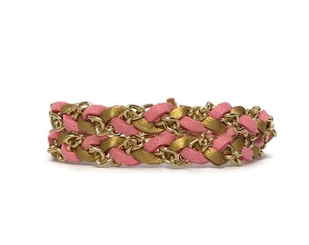 NEW Skinny Double Wrap in Golden Pink - Spring Collection - Mikaylove