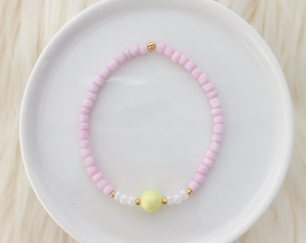 Stretchy Beaded Bracelet in Sunny - Mikaylove
