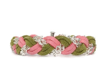 NEW Braided Bracelet in Floral