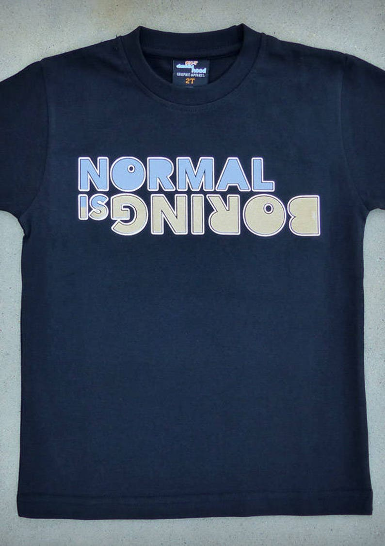 08b1fa8ee SALE Normal is Boring Cool Attitude Youth Boy Black