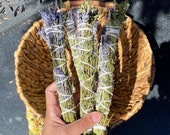 Lavender and Lemon Balm bundle natural incense smudge stick