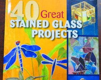 40 grand vitrail projets - motif Book - livre de motif vitrail - verre impressionnant avec des motifs