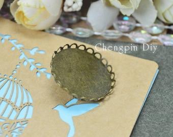Bruckle Brooch - Lable Pin Blank - 25mm Lace blank lable pin, brooch pin, brooch settings - Brooch Glass Tray - Bezel Brooch DIY