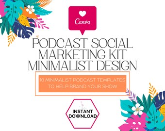 Podcast Media Kit, Podcast Canva Template, Podcast Cover Art Template, Small Business Tool, Canva Podcast Template, Media Kit Template