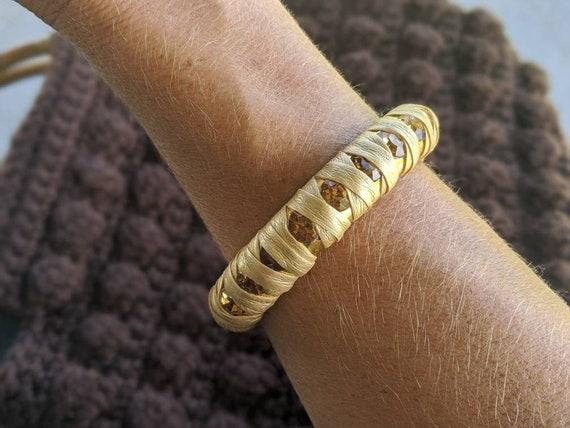4 Bracelets  19cm gold tone FS296
