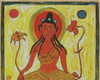 Tantra Series Greeting Cards on Lokta Paper Set of 10