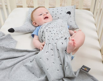 Handmade baby blanket , Handmade baby pillow , Baby shower gift