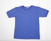 Marimekko blue Tasaraita even striped unisex shirt blue striped blouse Finnish design