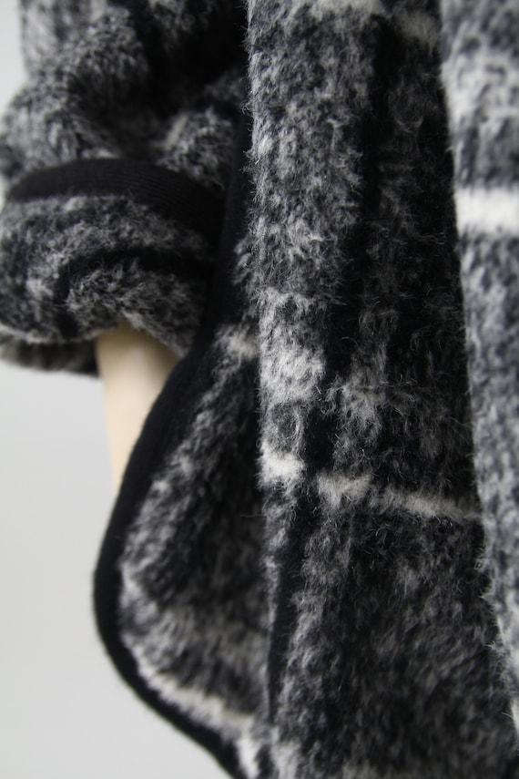 Marimekko black and white vintage plaid coat for … - image 4
