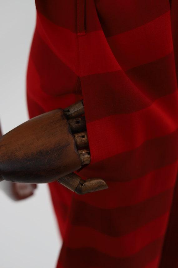 Vuokko Nurmesniemi vintage red striped wool dress… - image 7