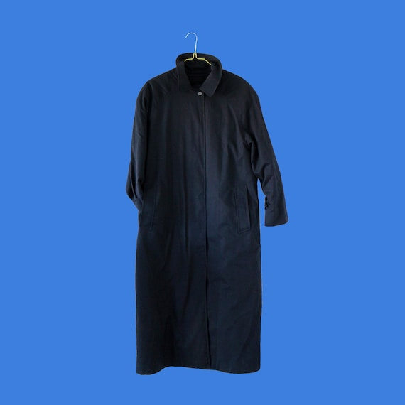 Burberry Navy Blue vintage trench coat with remova