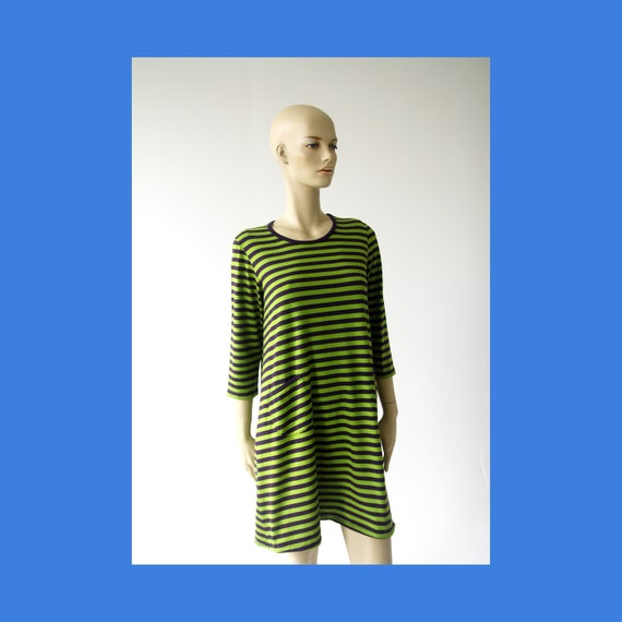 Marimekko vintage striped cotton dress - tunic