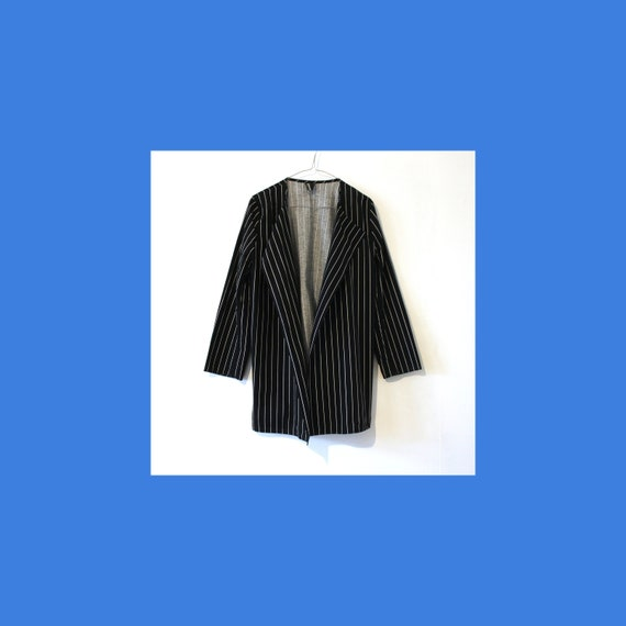Vuokko Nurmesniemi vintage striped cotton blazer -