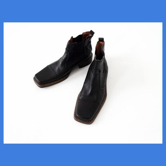 Santa Marina Paris vintage square-toed leather ank