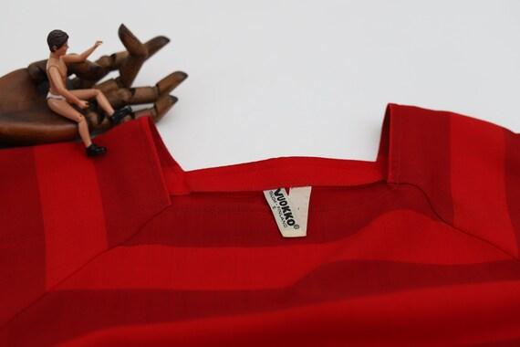 Vuokko Nurmesniemi vintage red striped wool dress… - image 4