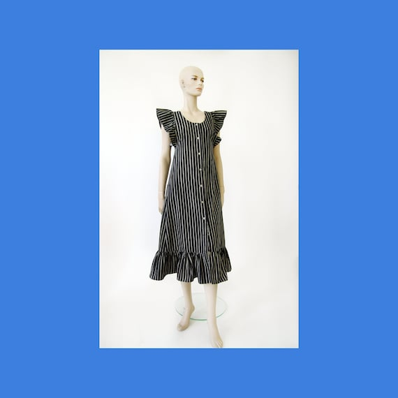 Vintage Marimekko striped Jokapoika Jumper Dress 1