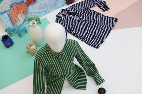 Marimekko classic striped Jokapoika Piccolo blue a