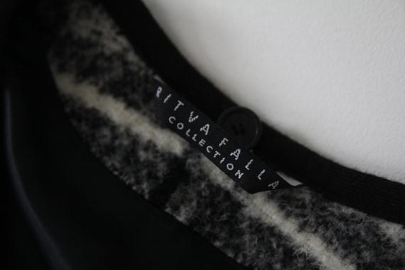 Marimekko black and white vintage plaid coat for … - image 9