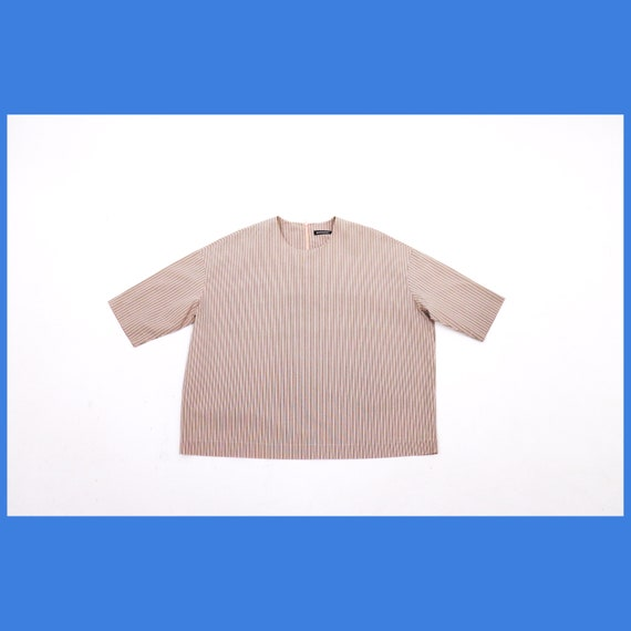 Marimekko ALISSA striped oversized shirt / pink st