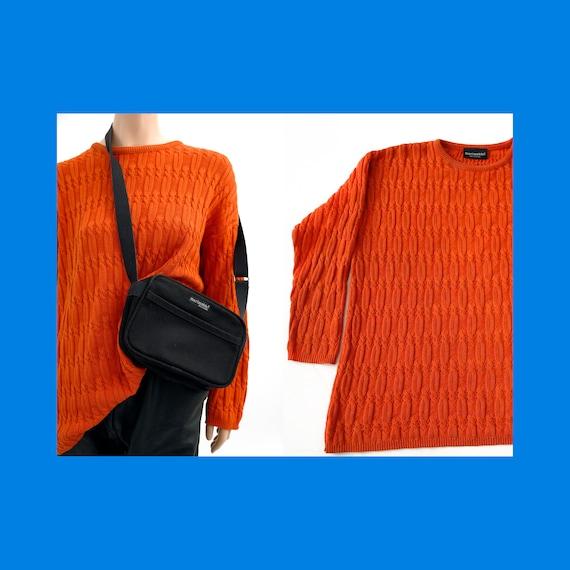 Marimekko vintage oversized orange braided cotton