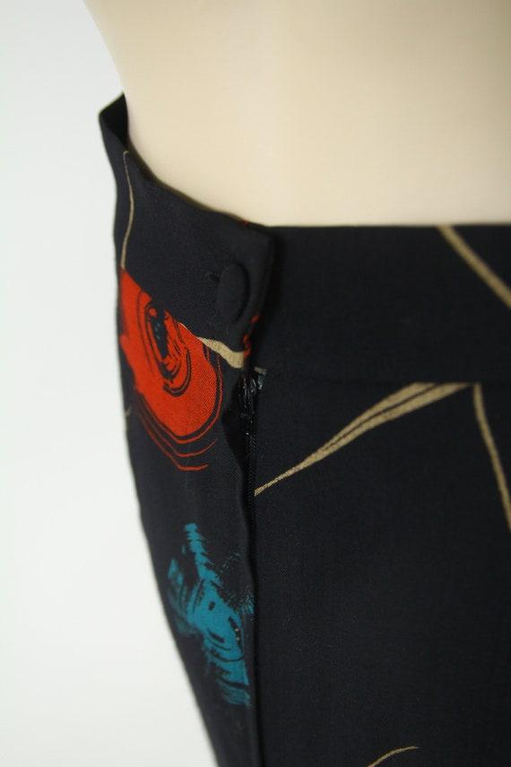 Marimekko vintage wool midi skirt - image 4