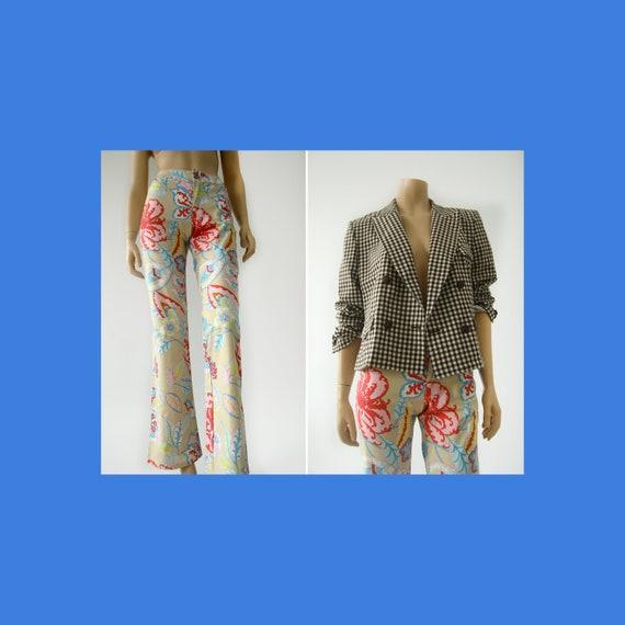 ESCADA Sport floral Y2K flared pants for women / f