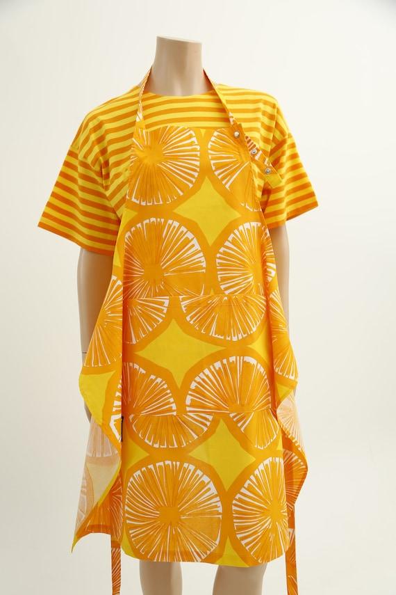 Marimekko vintage yellow striped tasaraita T-shirt - image 7