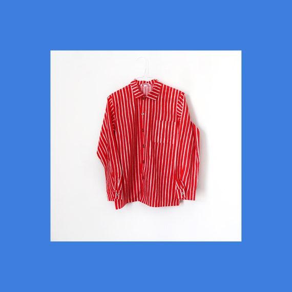 Marimekko classic striped Jokapoika Piccolo red an