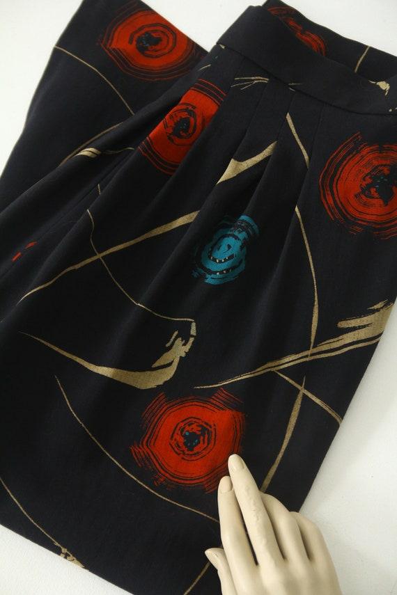 Marimekko vintage wool midi skirt - image 9
