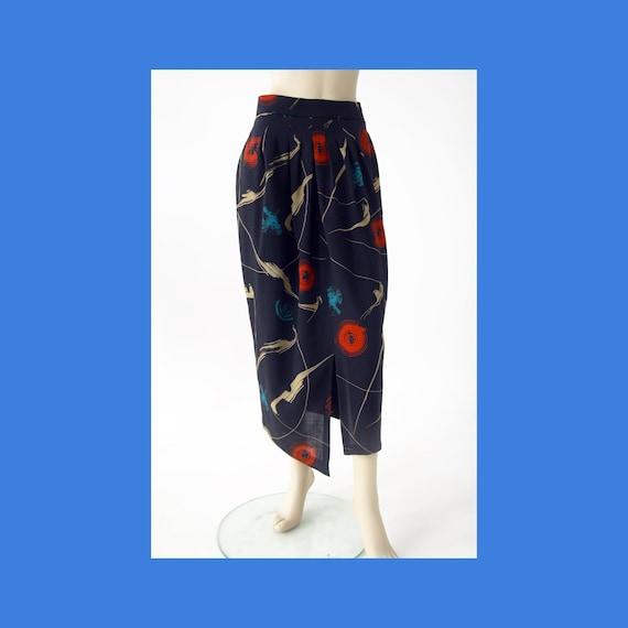 Vintage Marimekko abstract patterned wool midi ski