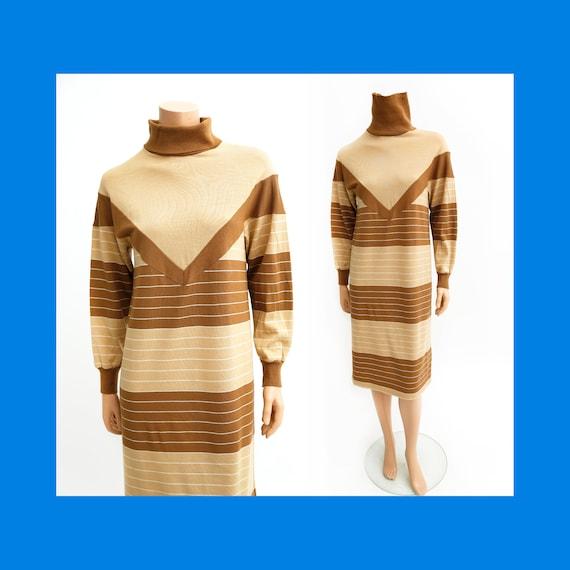 Finnwear vintage knit jersey wool-blend shift dres