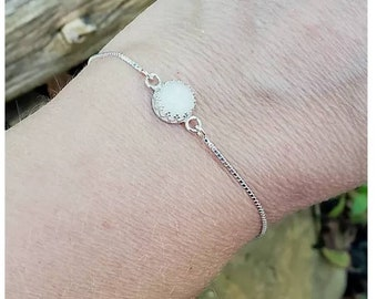 Gallery Style 8mm Keepsake Stone Adjustable Bracelet 'add on' Project to the Breastmilk Preservation Kit Solid Silver Mold Included!