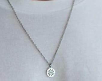 sun necklace men