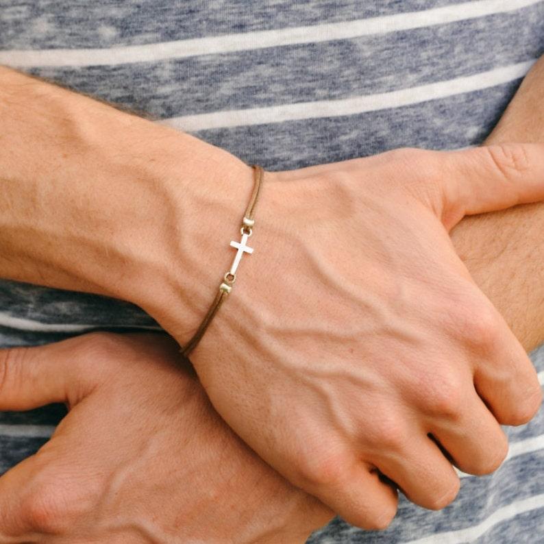Cross Bracelet For Men Birthday Gift Mens With
